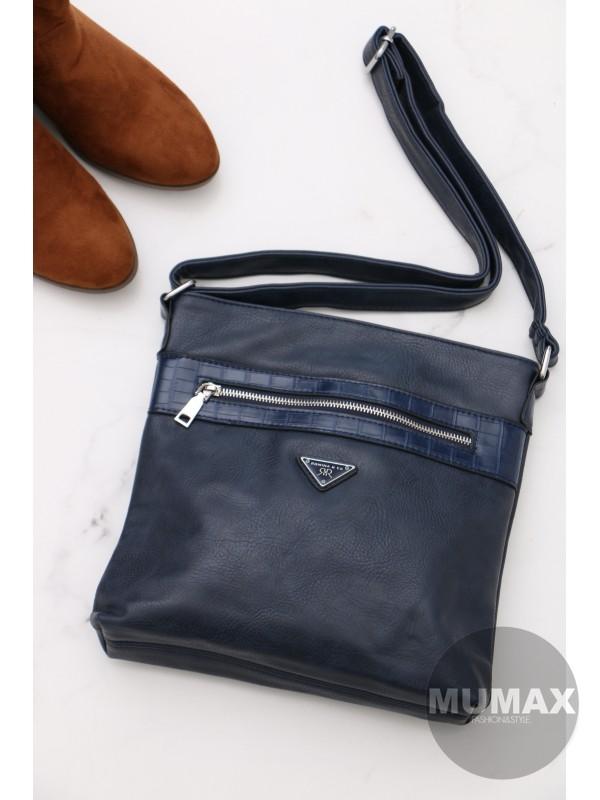 Trendy dámska kabelka modrá