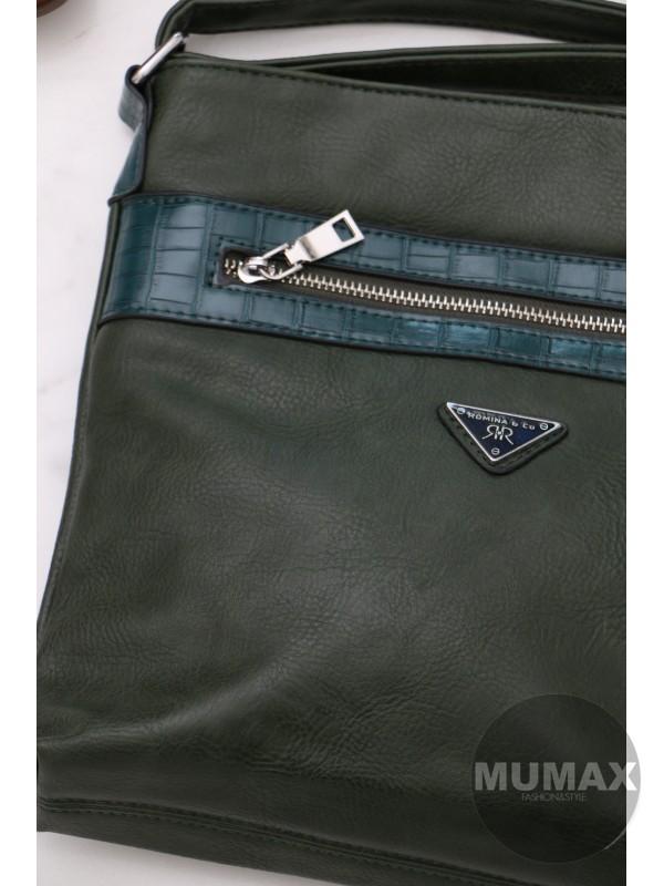 Trendy dámska kabelka zelená