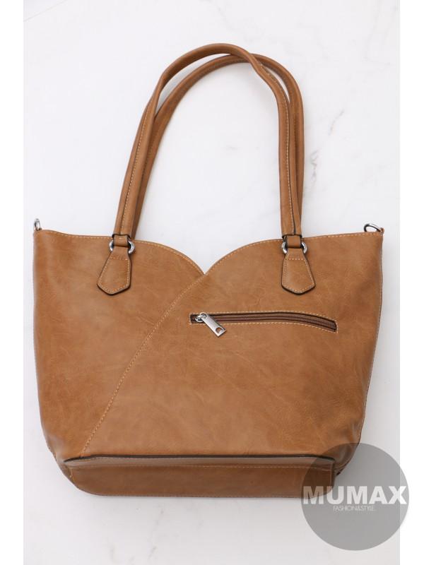 Trendy hnedá kabelka BELLA