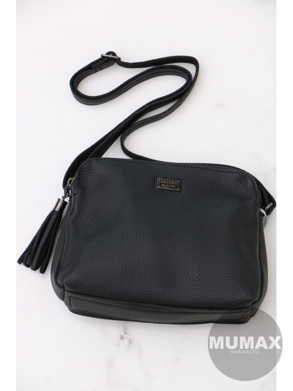 Trendy čierná crossbody kabelka