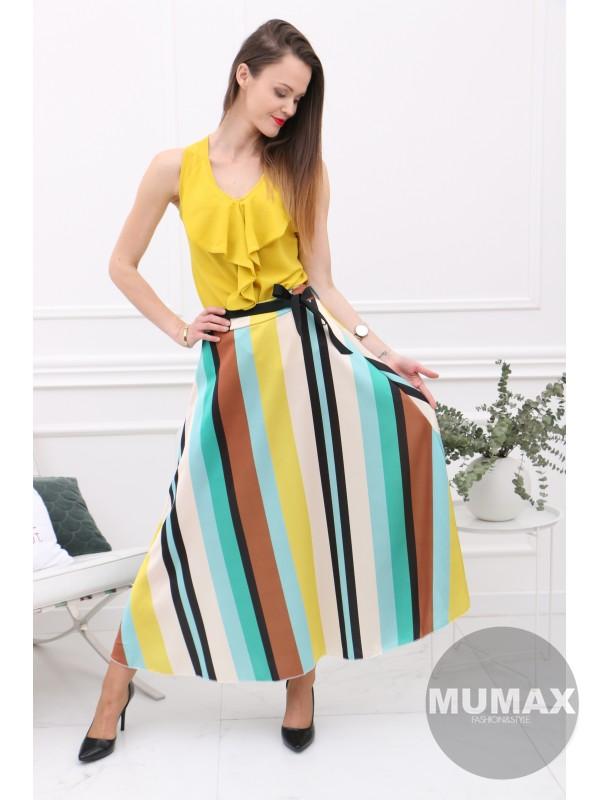 Dlhá farebná sukňa