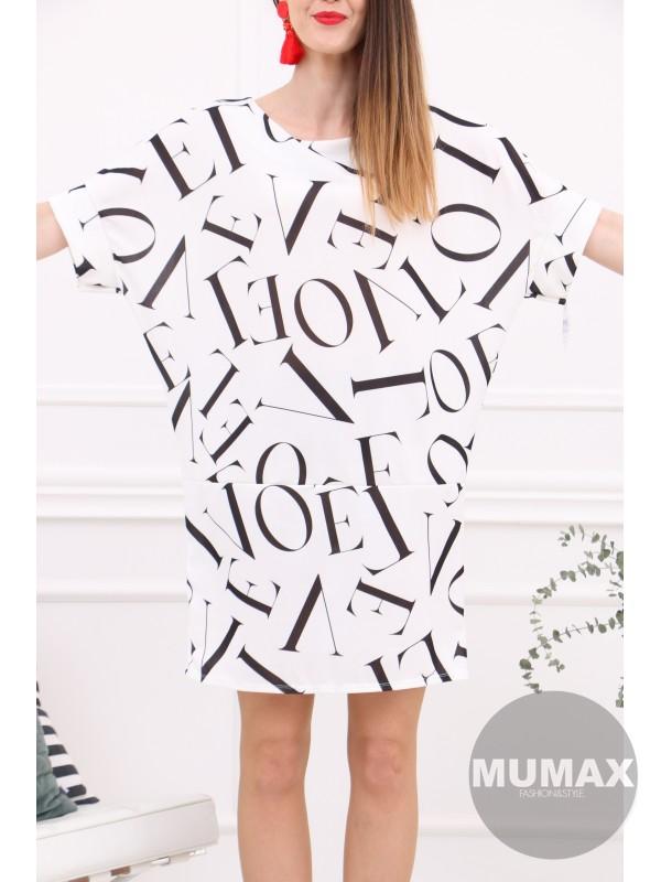 Biele šaty LOVE