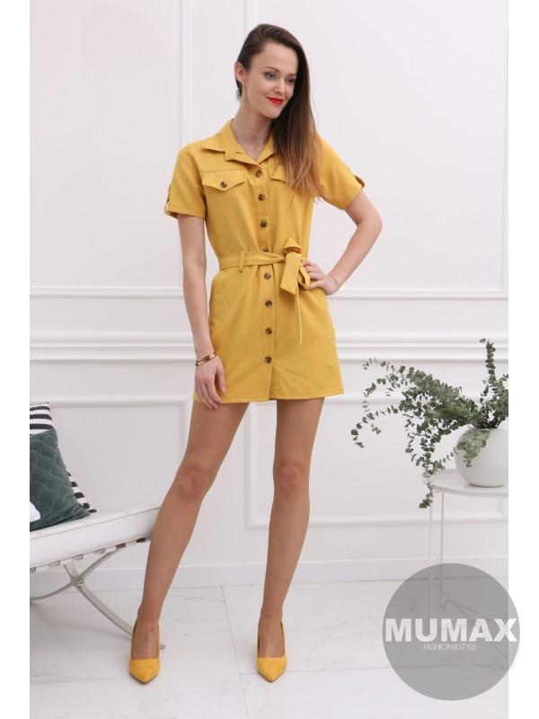 f3e102cb819f Žltá tunika šaty