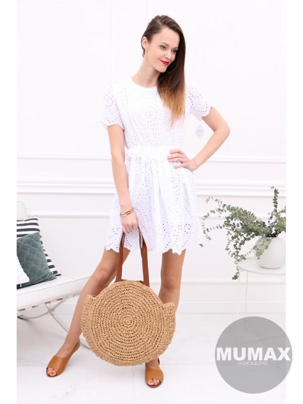 Dámske šaty madeira bielé