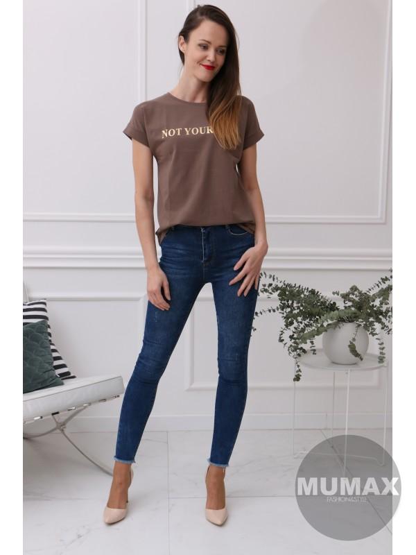 Dámske hnedé tričko