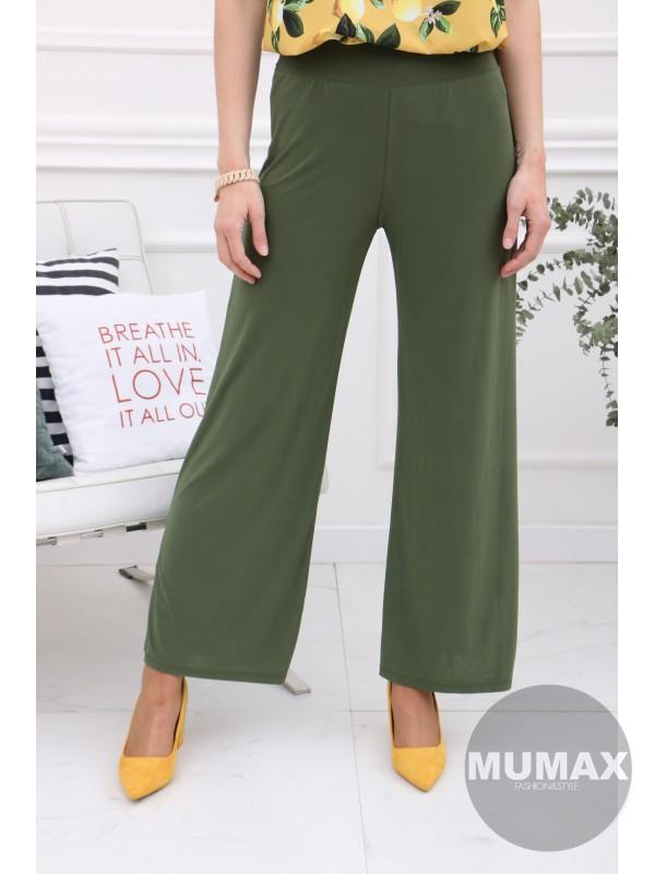 Zelené široké nohavice