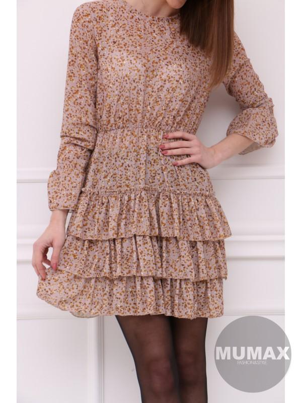 Ružové šaty s riasením