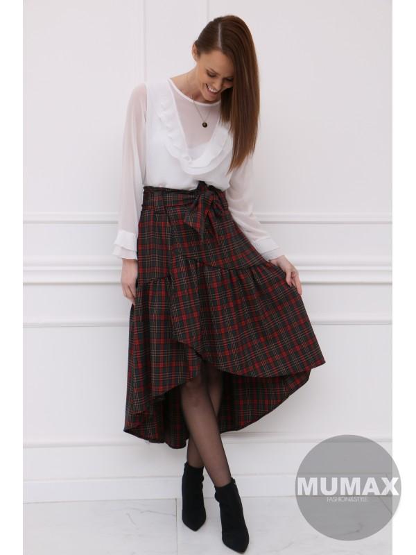 Asymetrická zavinovacia sukňa
