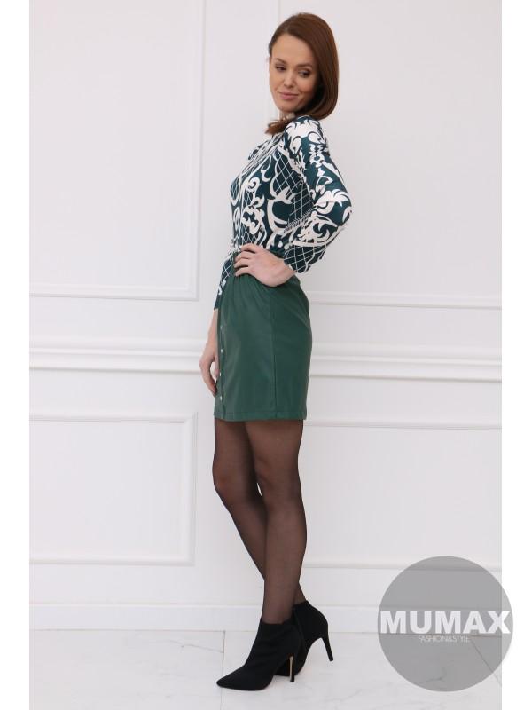 Zelená koženková sukňa