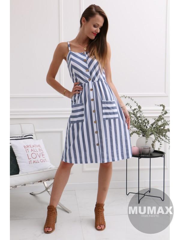 3f7112b610 Dámske letné pruhované šaty