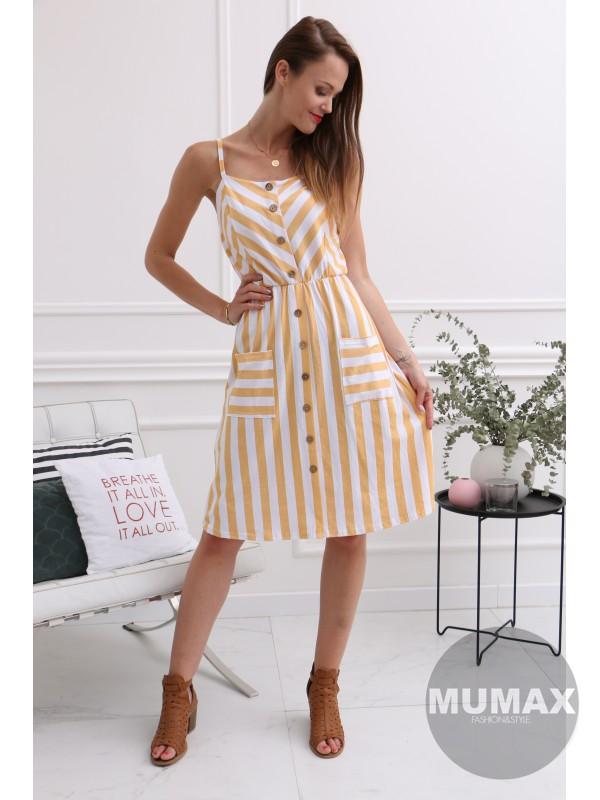 Dámske letné pruhované šaty