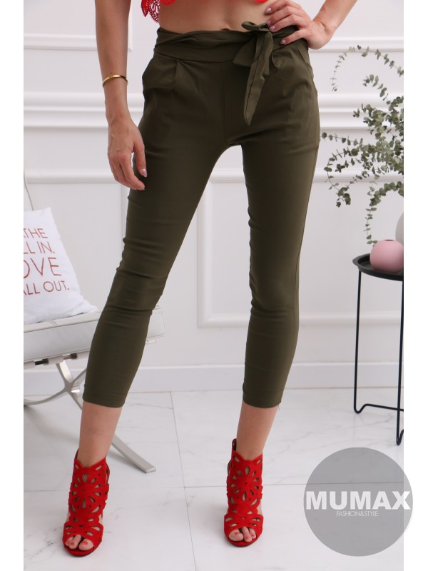 Dámske zelené nohavice