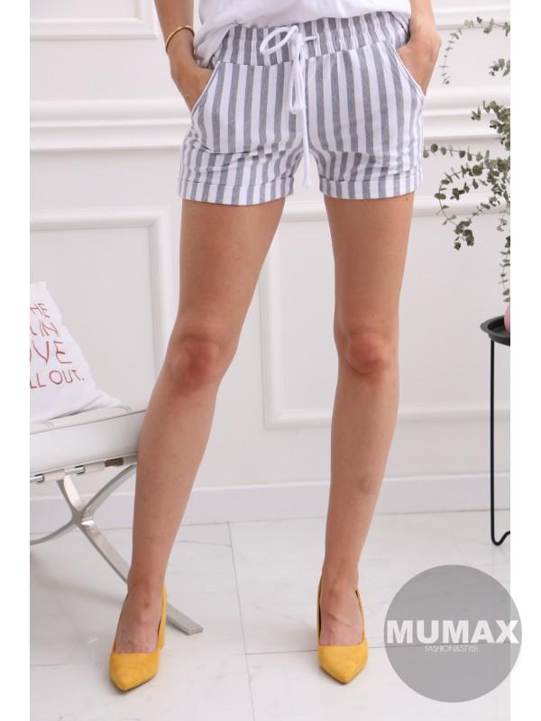 Pásikave krátke nohavice