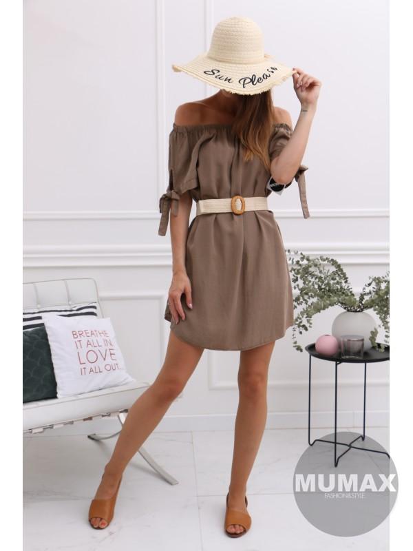 Hnedá tunika/šaty