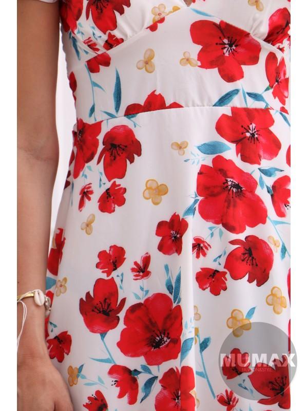 Dámske kvetinkové šaty