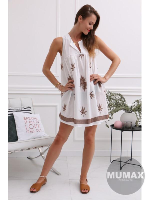 Dámska bielá tunika/šaty