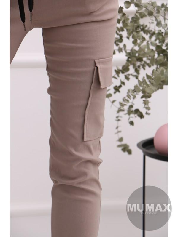 Dámske hnedé nohavice