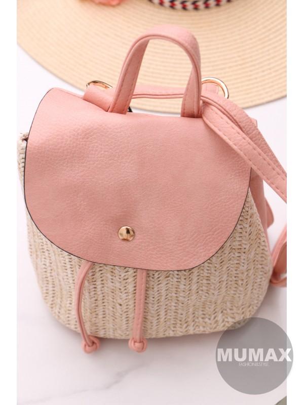 Módny ruksak ružový