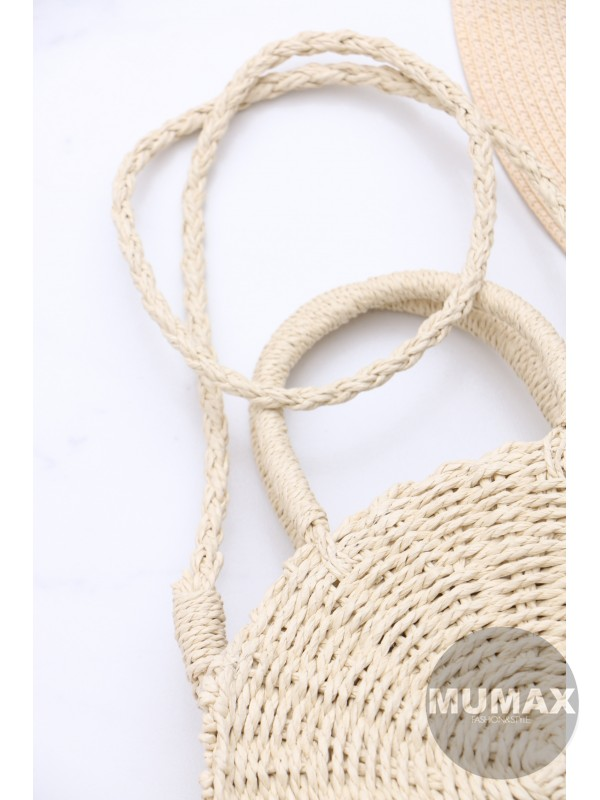 Módna slamena kabelka