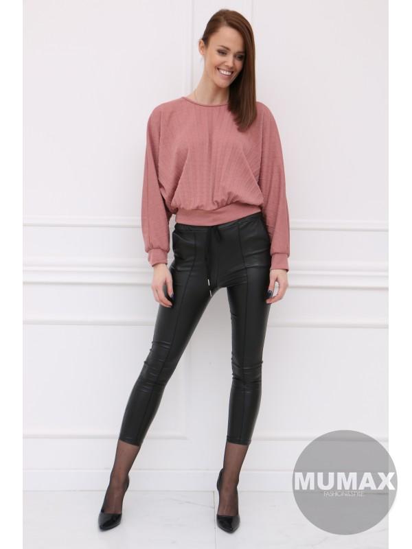 Trendy ružový plisovaný top