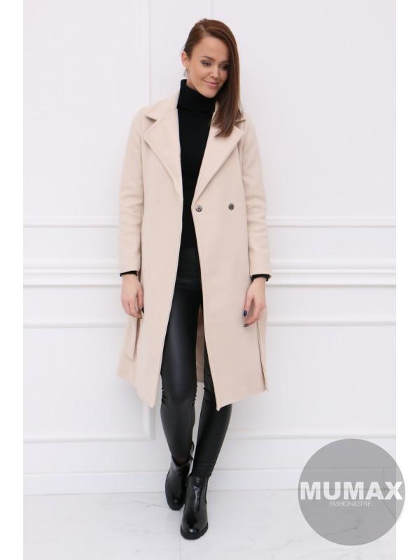 Dámsky krémovy kabát