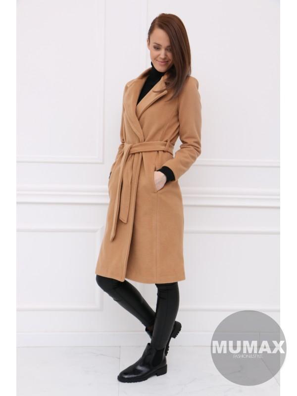 Dámsky hnedý kabát