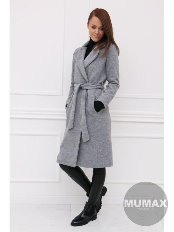 Dámsky šedý kabát