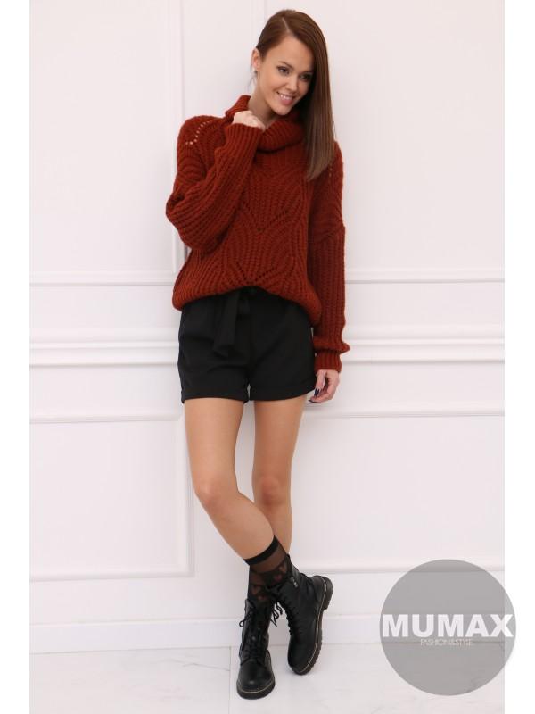 Trendy hnedý pulovér