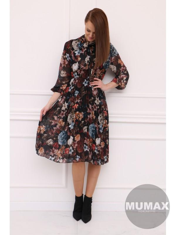 Plisované vzorované šaty