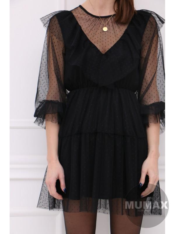 Čierné tylové šaty