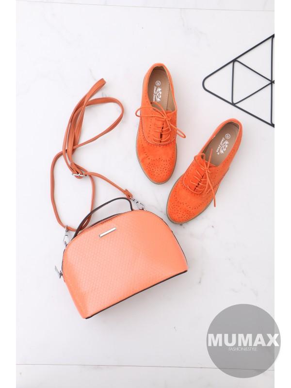 Trendy oranžové mokasíny