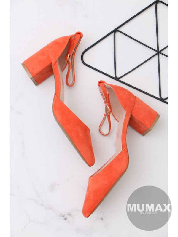 Oranžové lodičky s remienkom