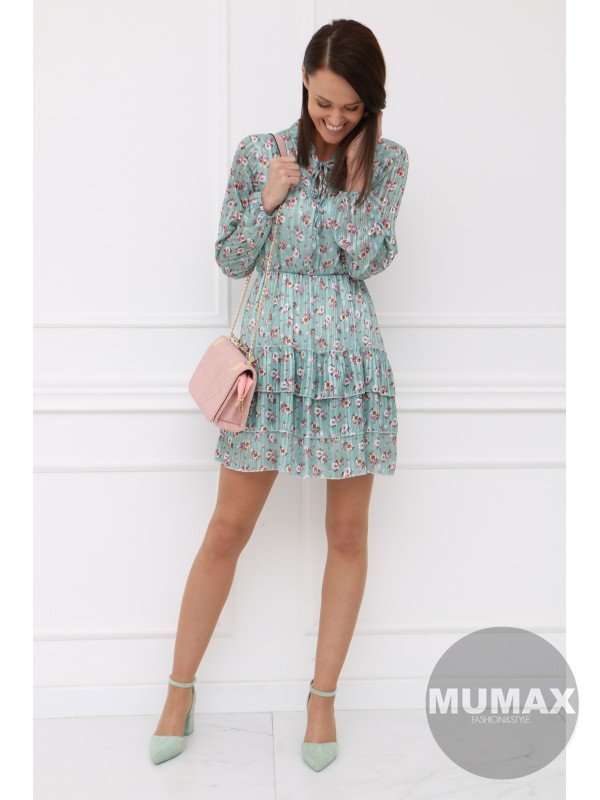 Mentolové šaty MILADY