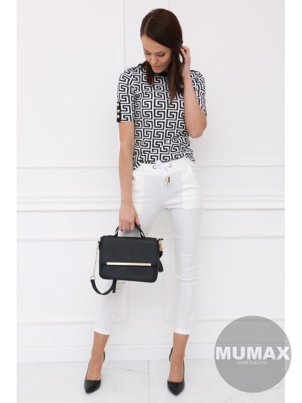 Bielé tričko s gombíkmi