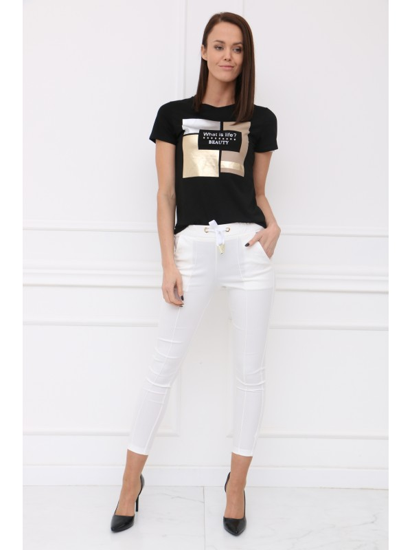 Čierné tričko BEAUTY