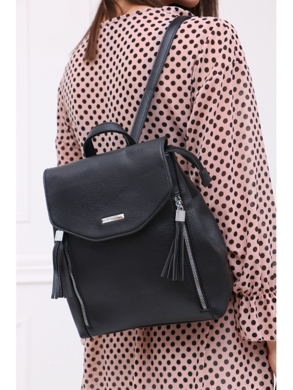 Módny ruksak čierný