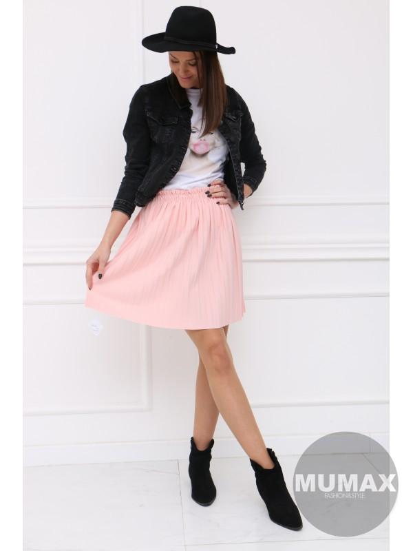 Ružová krátka suknička