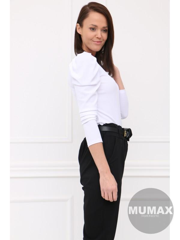 Bielé tričko s dlhými rukávmi