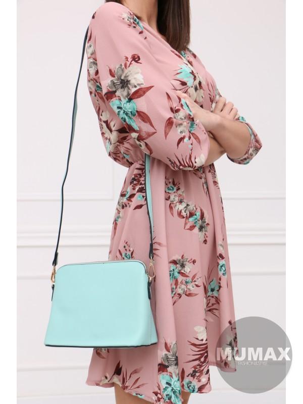 Ružové šaty zelený kvet