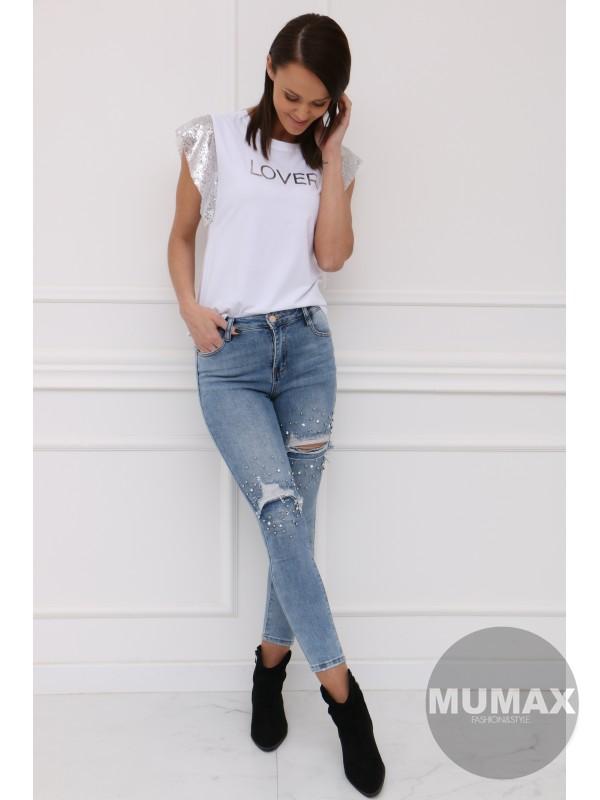 Bielé tričko LOVER