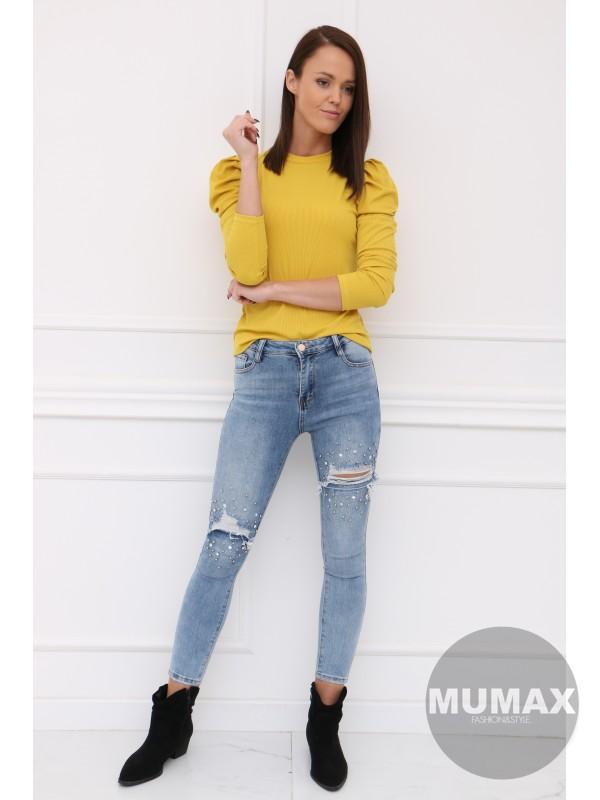 Žlté tričko s dlhými rukávmi