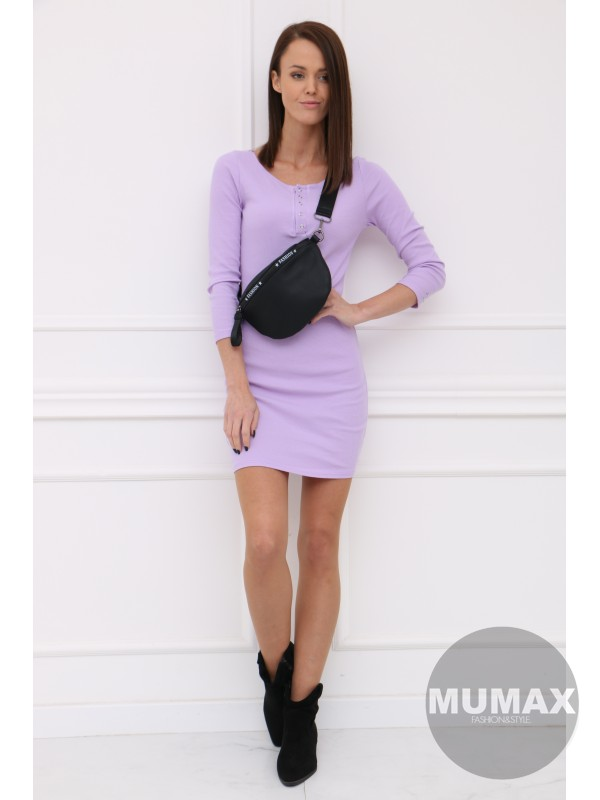 Fialové úzke šaty