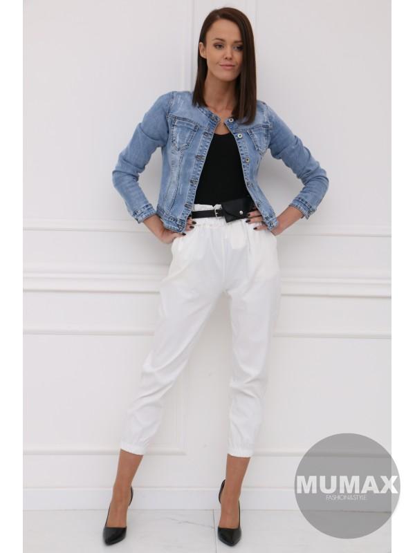Bielé nohavice s ľadvinkou