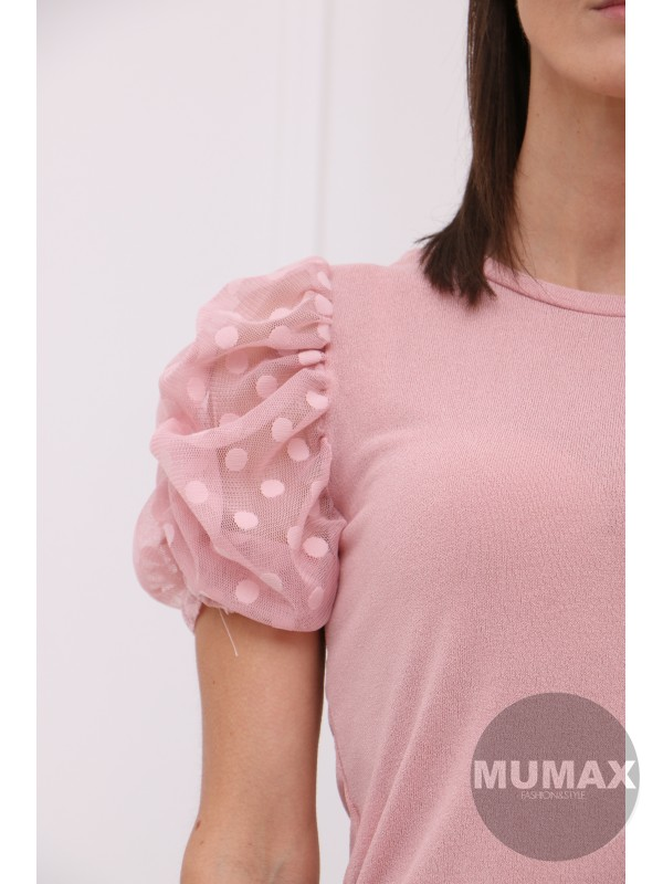 Ružový bodkovaný top