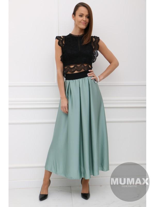 Mintová elegantná sukňa