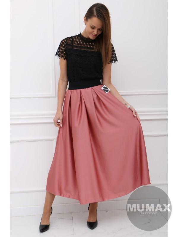 Korálová elegantná sukňa