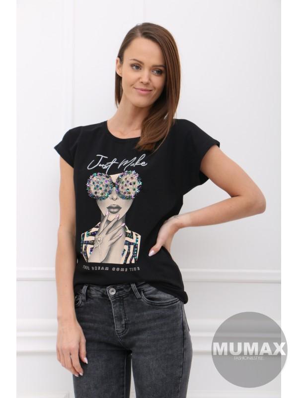 Čierné tričko JUST MAKE