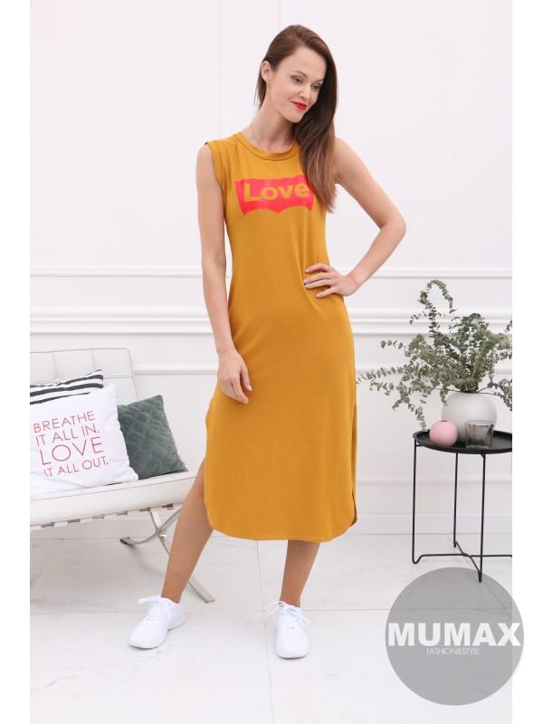 55e6f524765c Dámske šaty dlhé LOVE