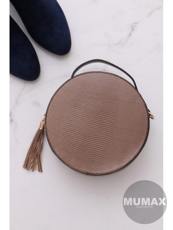 Trendy okrúhla kabelka hnedá