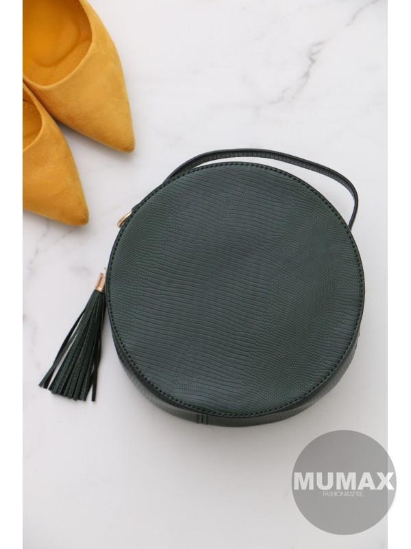 Trendy okrúhla kabelka zelená